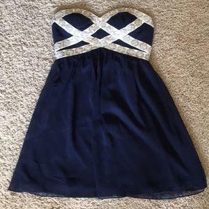 GB Navy Blue Formal Dress